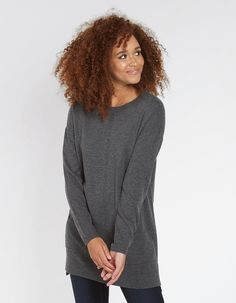 BuyLucy Longline Jumper today from FatFace. Fat Face, Long A Line, Knitwear, Jumper, High Neck Dress, Thumbnail Image, Model, Clothes, Profile