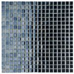 """Sable 0.625"""" x 0.625"""" Glass Mosaic Tile in Black Mirror"""