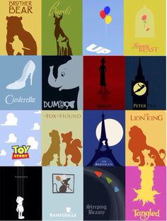 Artsy Disney movie posters. Amazing thing to put on a Disney Cruise door.