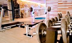 La Mer Deluxe Hotel & Spa #fitness #health #gym Kamari Santorini, Santorini Greece, Hotel Spa, Resort Spa, Gym, Health, Fitness, Projects, The Sea