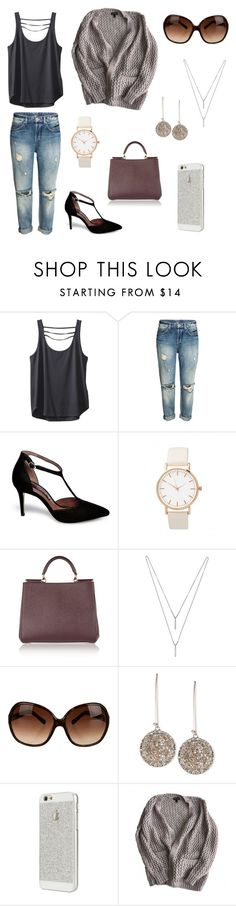 """boyfriend jeans with gray and purple"" by genevamq on Polyvore featuring Kavu, Steve Madden, Dolce&Gabbana, BCBGeneration, Tory Burch, Rachel Rachel Roy, CO and Topshop"