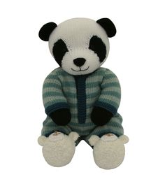 My latest pattern is a Panda in a onesie with cute teddy bear booties!