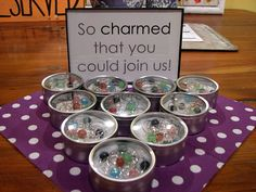 My friend RuthAnn is my fave domestic goddess. She made these wine charms as favors for her sister's shower.