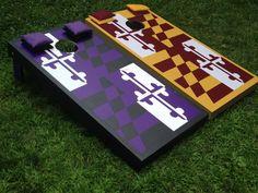 Ravens MD flag vs Redskins MD flag set by BMore Corny