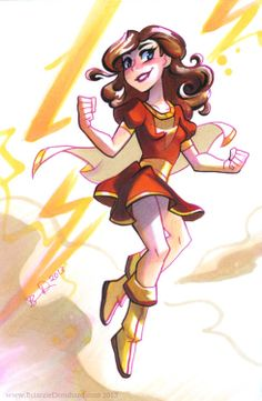 Mary Marvel by Brianne Drouhard Dc Comics Art, Comics Girls, Fun Comics, Marvel Dc Comics, Original Captain Marvel, Captain Marvel Shazam, Female Dc Characters, Superhero Characters, Comic Poster