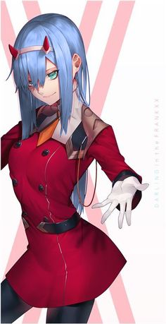 90 best blue haired zero two images darling in the