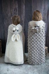Woodland Bunny Blanket Crochet Pattern – Hooded Woodland Rabbit Blanket Crochet PATTERN MJ's Off The Hook Design – Mundo de ganchillo Crochet Blanket Patterns, Knitting Patterns, Crochet Blankets, Baby Blankets, Hand Knitting, Manta Animal, Poncho Mantel, Crochet Hooks, Knit Crochet