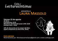El próximo viernes: Laura Massolo en el Ciclo Lecturas Íntimas - Cenas literarias