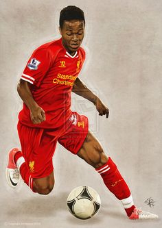 Raheem Sterling painting - Finished version by kitster29 on deviantART