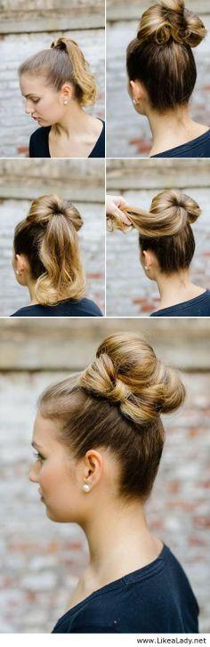 Bun and hair bow