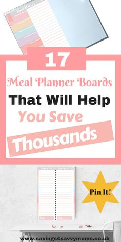 17 Meal Planner Boards That Will Help You Reduce Your Food Bill This Month - Savings 4 Savvy Mums Planner Board, Meal Planner, Menu Planning, Financial Planning, Money Saving Tips, Managing Money, Saving Ideas, Save Money On Groceries, Entrepreneur