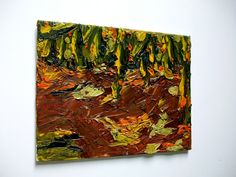 Autumn Woods ORIGINAL OIL PAINTING 9 x 7 by Mike by MikeKrausArt, $34.00