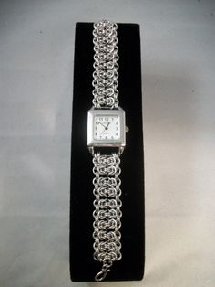 Byzantine Bar Chain Maille Watch by GypsyGrove on Etsy, $40.00