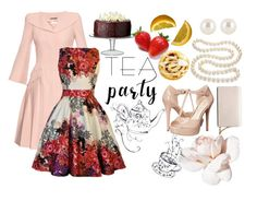 """""""Tea Time"""" by raven-moonlight ❤ liked on Polyvore featuring Alexander McQueen, DaVonna, Henri Bendel, Jessica Simpson, LSA International, Calvin Klein and teaparty"""