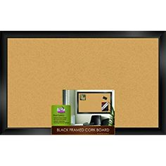 """Amazon.com : The Board Dudes Black Framed Cork Board 35"""" X 22"""" : Bulletin Boards : Office Products 