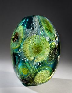 Eric Rubinstein glass art by valinda kornhauser Blown Glass Art, Art Of Glass, Glass Artwork, Glass Marbles, Glass Beads, Murano Glass, Fused Glass, Glass Paperweights, Glass Vase