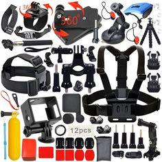 Erligpowht Kit di accessori per macchina fotografica per Gopro Bundle per sj4000/sj5000 /GoPro hero 4,per Gopro 3+ 3 2 1: Amazon.it: Sport e tempo libero