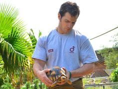 Extremely attractive and supporting conservation - perfect combo :). Henry Cavill continues his charitable campaign to support Durrell Wildlife Conservation Trust.