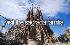 Visit the Sagrada Familia (a large Roman Catholic church in Barcelona, Spain) / Bucket List Ideas / Before I Die