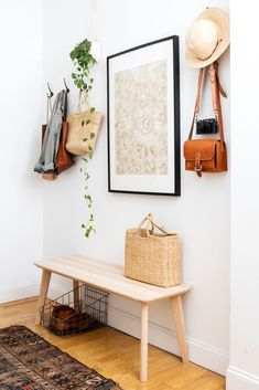 white / wood entryway