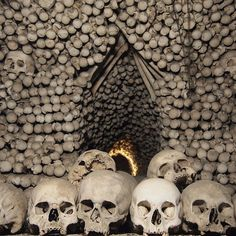 Sedlec Ossuary — Kutná Hora, Czech Republic - Why you should go: Imagine going into a real-life set of Jeepers Creepers, but instead of human skin on the walls you see nothing but human skeletons. That is exactly what it is like to go into the Church of Sedlec Ossuary, whose interior is covered in 40,000 to 70,000 human bones.