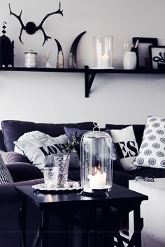 The black/white color scheme adds a punch of elegance. I'd throw in an accent color for visual interest.