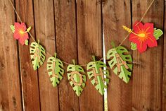 Tiki Luau Hawaiian Party Aloha Banner by PaperPartyParade on Etsy, $18.00