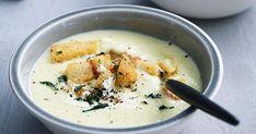 Australian Gourmet Traveller recipe for buttery leek soup with croûtons. Sourdough Rolls, Cauliflower Soup Recipes, Leek Soup, A Food, Food Processor Recipes, Stuffed Peppers, Cooking, Ethnic Recipes, Gourmet