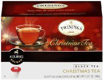 Twinings Christmas Tea K-Cups. This tea has a spicy aroma that will get you into that special holiday mood. Enjoy black or with milk and sweetener for a special holiday treat.