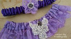 Purple #wedding #garter set, purple and lavender lace wedding garter with bling for dazzle.  One of a kind wedding garter set has hand dyed lavender lace, royal purple accent... #bride #bridal #weddings #ido #bridalgarter #weddinggarterbelt #garters ➡️ http://jto.li/73JCe
