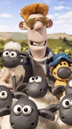 Shaun the Sheep Movie Sheep Cartoon, Cartoon Tv, Cartoon Drawings, Sheep Fondant, 2000 Kids Shows, Sheep Art, Shaun The Sheep, 2015 Movies, We Bare Bears
