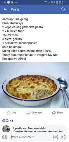 Tuna Gereg Fish Dishes, Seafood Dishes, Seafood Recipes, Cooking Recipes, Oven Recipes, Quiche Recipes, Brunch Recipes, Easy Delicious Recipes, Great Recipes