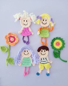 Crochet Applique Patterns Free, Crochet Flower Patterns, Baby Knitting Patterns, Crochet Motif, Amigurumi Patterns, Crochet Designs, Crochet Flowers, Crochet Stitches, Crochet Baby
