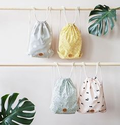 ferm LIVING Kids - gym bags made from 100% organic cotton.