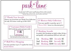 Host a Park Lane Party today!