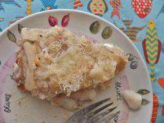 Tuna and egg crêpe cake