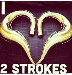 Two Strokes love Dirt Bike Quotes, Four Wheelers, Dirt Biking, Bike Rides, Motorcycle Design, Honda Cr, Dirtbikes, Vintage Bikes, Motocross