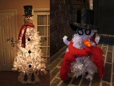 Snowman tree doesn't light up the room for this family. #pinterestfail