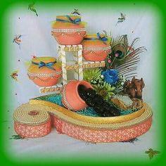 Wedding Gift Wrapping, Wedding Gift Boxes, Wedding Envelopes, Engagement Decorations, Wedding Decorations, Arti Thali Decoration, Bal Gopal, Trousseau Packing, Diy Wall Painting