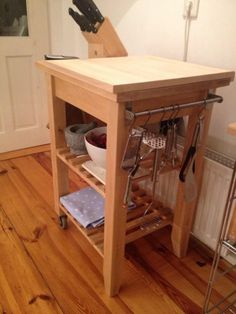 Bbq cart Ikea Bekvam hack Kitchen cart redo