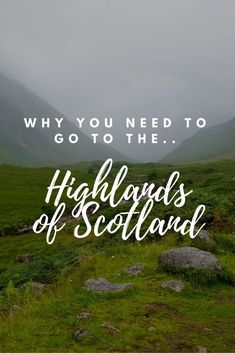 15 reasons why you need to go to the Highlands of Scotland! One of the least populated areas in Europe but easily one of the most beautiful! Check it out!