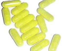 Neon Yellow sparkle pills neon yellow glitter caps by GlitterCaps