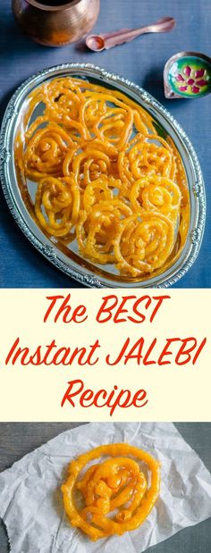 The BEST Instant Jalebi recipe Herbivore Cucina: The BEST Instant Jalebi recipe…Instant version of Jalebis; sinful crisp fried spirals dunked in sugar syrup. This Indian Funnel cake makes a perfect dessert or breakfast! Yummy Recipes, Hot Dog Recipes, Sweet Recipes, Crockpot Recipes, Vegetarian Recipes, Snack Recipes, Yummy Food, Amazing Recipes, Cooker Recipes