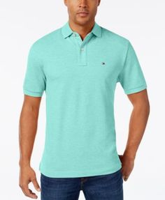 TOMMY HILFIGER Tommy Hilfiger Men'S Classic-Fit Ivy Polo. #tommyhilfiger #cloth # polos