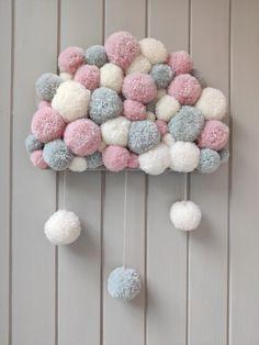 Christmas Pom Pom Crafts, Diy Birthday Decorations, Baby Afghan Crochet, Baby Room Design, Diy Hair Accessories, Nursery Room Decor, Homemade Crafts, Diy Arts And Crafts, Baby Decor