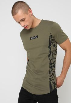 61f7fdc150648 Jack   Jones JORPEPPER TEE CREW NECK - Basic T-shirt - dusty olive -