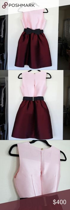 kate spade new york swift dress This beautiful dress from the holiday collection is the ultimate girlie girls' dress! The over sized structured bow belt adds some flare to this piece! (Please note if you'd like to purchase these items separately) Hidden side pockets. kate spade Dresses
