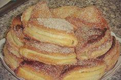 Zutaten 400 gQuark 250 gButter 480 gMehl 1 TLBackpulver 1 PriseSalz Zimtzucker z. Cheese Biscuits, Cookies Et Biscuits, Torte Au Chocolat, Russian Recipes, Churros, Tasty Dishes, No Bake Cake, Sweet Recipes, Sweet Tooth