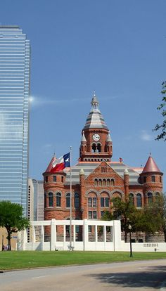 The Old Red Courthouse. Dallas. Texas.