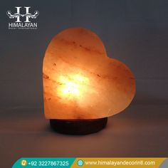 Himalayan Salt Lamps Heart Shape Product Code: USBL-70 Condition: New Material: Salt Color: Amber Parts Included: Salt Lamp, Bulb, Cable and Product Information Sheet